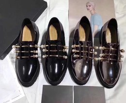 Wholesale Beautiful Women Furs - Genuine Leather to create Italian luxury brand students beautiful ladies shoes shoes fashion pearls with women shoes high heel Platform shoe