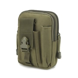 Модный ремень онлайн-Men Canvas Phone Bag Waist Hip Belt Wallet Purse Case Pouch pochete homem
