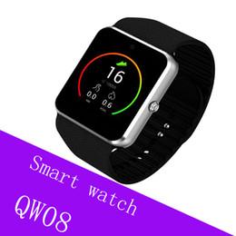 Relógio inteligente dual core on-line-QW08 GT08 além de telefone móvel Android smart watch MTK6572 Dual-core com câmera do cartão SIM GPS Wifi WCDMA 3G google play loja de apoio whatsapp