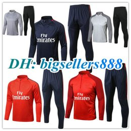 Wholesale Football Training Jackets - TOP QUALITY 17 18 NEYMAR JR MBAPPE jacket Training suit kits soccer Jersey VERRATTI CAVANI DI MARIA MATUIDI DANI ALVES football shirts