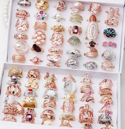 Rosas de bronze on-line-Anéis dos homens das mulheres Anel anéis para Mulheres Homens Lady lady Rose Gold Sliver Banhado dedo dedo anel decoração moda Jóias atacado