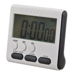 Wholesale large digital lcd clock - Magnetic Large LCD Digital Kitchen Timer with loud Alarm Cooking Digital Time Reminder Count Up Down Clock to 24 Hour 78x73x25MM