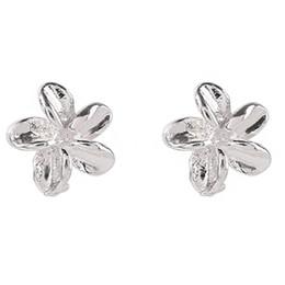 Individuelle blumen online-Mini Super Kleine Blume Ohr Nagel S925 Sterling Silber Tag Korea Vertraglich Einzelnen Charakter Weiblichen Ohrring Temperament 100 Bauen Kompakt