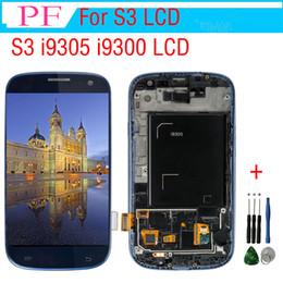 pantallas de visualización s3 Rebajas i9305 lcd para Samsung Galaxy S3 i9305 i9300 pantalla LCD de reemplazo de pantalla táctil digitalizador para Galaxy S3 i9300 Display + herramienta