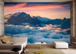 Römische wandbilder online-moderne 3D-Fototapete Benutzerdefinierte 3d Wandbild Tapete Roman Sea of Clouds Wallpaper für Küche