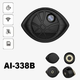 Wholesale eye camera wireless - Mini Wireless Camera Eye Shape Monitoring Camera Wifi Connection Video Recorder Micro Camcorder Support Playback and Download