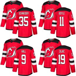 2018 New Brand Adults New Jersey Devils 9 Taylor Hall 11 Brian Boyle 19  Travis Zajac 35 Cory Schneider Red Ice Hockey Jerseys Accept Custom  discount devils ... 38692f3f9
