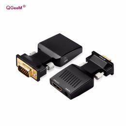 Argentina Convertidor de VGA a HDMI con audio Full HD Adaptador de VGA a HDMI con salida de video 1080P HD para PC Proyector HDTV para computadora portátil supplier video output vga converter Suministro