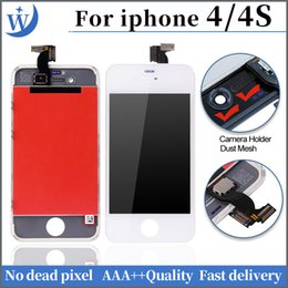 Canada AAA +++ Écran LCD de haute qualité pour iphone 4 4s Écran tactile complet pour Digitizer avec remplacement complet du cadre Offre