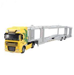 Wholesale truck 11 - Alloy 1:50 Double-Deck Car Transporter Truck Diecast Vehicle Model Toy