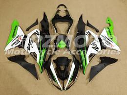Wholesale Kawasaki 636 Motor - New ABS motor Fairing Injection Mold Full set Fit For kawasaki Ninja ZX6R 599 636 13-16 ZX-6R 2013 2014 2015 2016 2017 white green