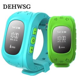 Smart watches for boys online-GPS Reloj seguro para niños SOS Call Localizador de ubicación Localizador Rastreador Smart Watch para Kid Child Anti Lost Monitor Baby Gift Boys Girls