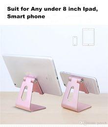 smart inhaber iphone Rabatt 180 Grad rotierender Aluminiummetalltelefonhalter stander Schreibtischstent für Ipad iphone Handy Smart Vorsprung mit Kabelmanagementloch