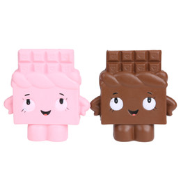 Ragazze cingono i giocattoli online-1PC Squishy Bread with Chocolate Kids Girl Kawaii Novità Toy Cute Charm Telefono cinghie Super Slow Rising Cake Giocattoli per bambini regalo