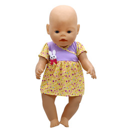 Wholesale Wool Baby Dress - Doll Accessories Baby Born Doll Clothes 6 Colors Cute Princess Skirt Dress Fit 43cm Zapf Baby Born Doll Birthday Gift X-113