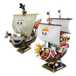 Wholesale Pirate Boats - 35cm Anime One Piece Thousand Sunny & Meryl Boat Pirate Ship Figure Pvc Action Figure Toys Collectible Model Toy Gifts Wx151