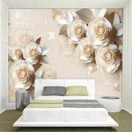 Rabatt 3d Rose Tapeten Fur Schlafzimmer 2019 3d Rose Tapeten Fur