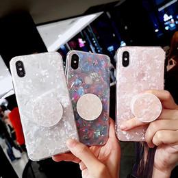 iphone zurück fall stehen Rabatt Neuer schöner Telefonkasten für iPhone Xs Max XR populärer INS Celebrity Fall für iPhone 6 7 8plus Telefonrückseite mit Standfuß