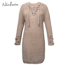 bf0b1071bf7 2019 wollkleider für mädchen 2018 Frauen Pullover Kleid Weibliche Frühling  Herbst Langarm Oversize Pullover Stricken Für