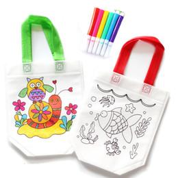 Bricolage dessin artisanat sac de couleur enfants apprenant des jouets de dessin éducatif avec un stylo aquarelle sûr pour les cadeaux de bébé ? partir de fabricateur
