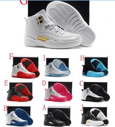Wholesale Narrow Fabrics - Kids 12 12s Shoes Children Basketball Shoes Boy Girl 12s French Blue The Master Taxi Sports Shoes Toddlers Birthday Gift