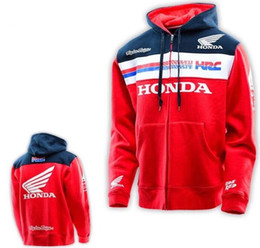 Wholesale Road Racing Clothing - Red Racing off-road Motorcycle Spring Autumn hoodie motorcycle clothes ride jackets motorcycle raicng coat