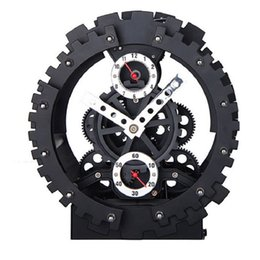 Wholesale Gear Decor - Dual-gear alarm automobile despertador digital watch electronic desk home decor klok masa saatial fajr clock Metal+Plastic