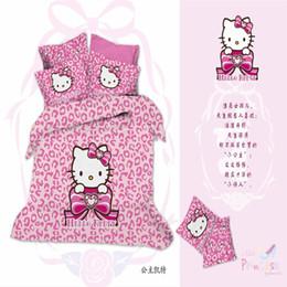 Wholesale Cat Comforter Sets - Home Textiles 100% Cotton 3D Bedclothes 4pcs Bedding Sets King Or Queen Cat Princess