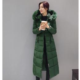 Wholesale Korea Winter Woman Jacket - Wholesale- Winter Down Jacket Coat 2017 Korea Fashion Long Thickening Down Cotton-padded Jacket Hooded Slim Big Yards Women Clothing BH040