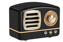 Wholesale Vintage Stereos - Retro Radio Bluetooth Speaker Vintage nostalgic Heavy Bass 3D Stereo Surround HiFi Speakers support TF USB FM AUX 1PCS LOT
