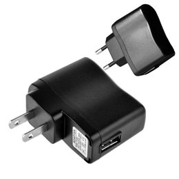 Wholesale mp3 electronics - Black US EU Plug Ac home travel wall charger power adapter 5V 500mah adaptor for iphone 5 6 ipod mp3 mp4 Electronic cigarette
