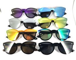 Wholesale free siamese - Round Siamese Sunglasses Men and women fashion glasses 2018 New Anti-UV UV Grade UV400 Sunglasses 8 colors optional Free Shipping