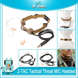 Z-TAC тактический zBowman горло микрофон наушники адаптер для стиля EVO III двойной боковой гарнитуры тактический детектив High Tone наушники Wargame от Поставщики спортивные наушники bluetooth