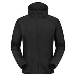 Wholesale Canada Outwear - Outdoor hiking camping lightweight forro polar hombre sport windproof thermal hooded tech fleece jacket men Canada brand outwear 19564