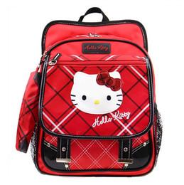 Red Hello Kitty Bag Pencil Case Set Primary Elementary School Backpacks Kids  Schoolbag Rucksacks Children School Bags for Girls e66bd9daef152