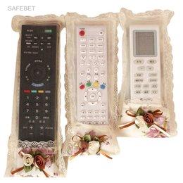 Wholesale Remote Control Art - SAFEBET 3pcs set Cloth Art Remote Control Sets Tv Air Conditioning Remote Control Dust Cover Storage Bag