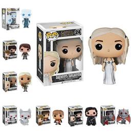 2019 figura de ação robin vermelho Funko POP Modelos Figuras de Ação Brinquedos Game of Thrones Daenerys Mãe de Dragões Figuras de Ação Game of Thrones Modelo PVC LA528-2