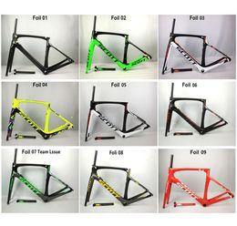 Wholesale frame sizes - 2017 Foil Carbon Road Bike Frame UD Weave PF30 Bicycle Frameset racing bicycle frames size 47cm 49cm 52cm 54cm