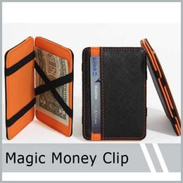 2019 magische brieftaschen für männer Herren Leder Magic Geldscheinklammer Slim Wallet ID Kreditkarteninhaber Fall Geldbörse Günstigster Preis günstig magische brieftaschen für männer