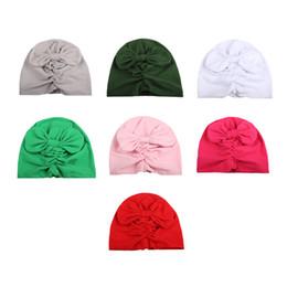 10 pz / lotto New Big Bow Turban Hat Accessori per capelli India Europa Style Fashion Copricapo Lusso Elegante Chemo Cap Girl Bowknot Hat supplier india accessories da accessori india fornitori