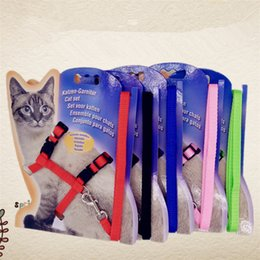 Cinto de segurança do arnês on-line-Cat Pet Leash chumbo Halter Harness Kitten Corda Alça de Segurança Belt Buckle Chest Strap Traction Harness Correia Cat T1I428