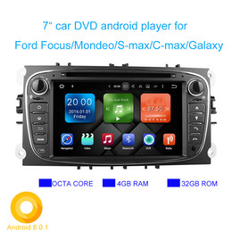 Wholesale Android Dvd Gps Ford - Android 8.0.1 Two Din 7 Inch 1024*600 Car DVD Player For FORD Focus S-MAX Mondeo C-MAX Galaxy RAM4G 32GB ROM WIFI GPS Navigation Radio DVR