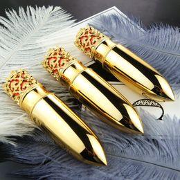 Wholesale Diy Princess Crowns - Gold Crown DIY Lipstick Tube Top Quality Bullet Handmade 12.1mm Batom Tubes Makeup Tools for Lady Princess 200pcs lot