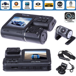 "Gps hd completo on-line-Dupla lente carro dvr câmera 2.0 ""Full HD 1080P LCD Video Dash Cam + câmera de vista traseira"