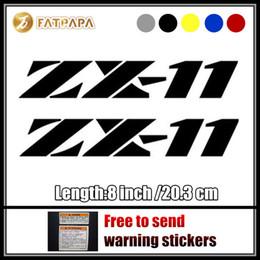 Wholesale Zx11 Fairings - motorcycle bike Fuel tank Wheels Fairing notebook Luggage helmet MOTO Sticker decals For ZX11 LOGO