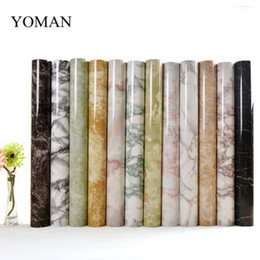 Wholesale vintage stickers - 5M Marble Waterproof Vinyl Self adhesive Wallpaper Modern Contact Paper Kitchen Cupboard Shelf Drawer Liner Wall Stickers