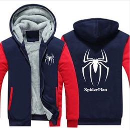 Taille US 2018 New Winter Chaud Spiderman Spider Man Hoodies Épais Zipper Hommes Casual Cardigan Veste Sweat ? partir de fabricateur