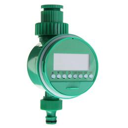 Controlador de rociadores de agua online-Digital LCD Automático Riego Temporizador Jardín Riego Controlador Válvula Inteligencia Temporizador de riego Sistema de rociadores