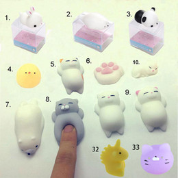 Wholesale Pink Blackberry Cases - Stress Reliever Toy Lovely Cartoon 3D Soft Q Elastic Squishy Cat Panda Unicorn Seal Chick Silicone For Cellphone Case with Retail Package