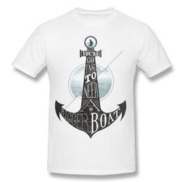 Bootshals-baumwollt-shirt online-Marke Erwachsene 100% Baumwolle Sie werden ein größeres Boot benötigen T-Shirts Erwachsene O Hals Weiß Kurzarm T-Shirt 4XL Cool T-Shirts